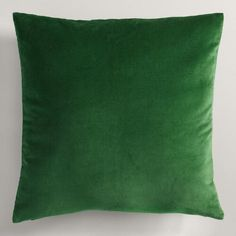 $0.01 One of my favorite discoveries at WorldMarket.com: Green Velvet Throw Pillow