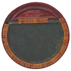 ABC Puzzle Game Board by Foxy Toys and Dated 1917 | From a unique collection of antique and modern toys at https://www.1stdibs.com/furniture/folk-art/toys/