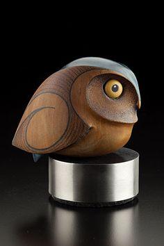 Little Owl by Rex Homan, Māori artist (KR150503)
