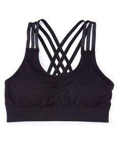 09fbfac828367 This Black Triple-Layer Wireless Layla Sports Bra is perfect!  zulilyfinds  Fitness Fashion