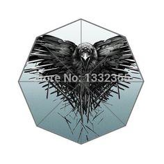 Fashion Design Umbrella Custom Black Eagle Folding Umbrella For Man And Women Free Shipping UPC-140