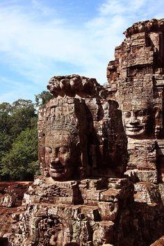 Bayon temple, Angkor. Siem Reap, Cambodia