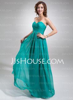 Empire Sweetheart Floor-Length Chiffon Bridesmaid Dress With Ruffle  (007016755) Empire Bridesmaid Dresses 693ec4575680