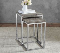 Living Room - Between the two chairs | Durham Nesting Side Table