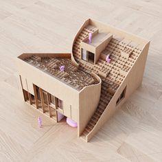 Yin & Yang house model by Penda architects