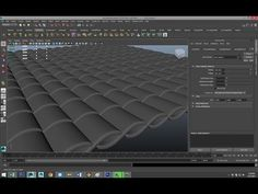 ▶ Maya tutorial : Modeling Roof tiles and Shingles - YouTube