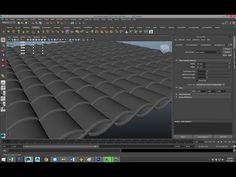 ▶ Maya tutorial : Modeling Roof tiles and Shingles - YouTube