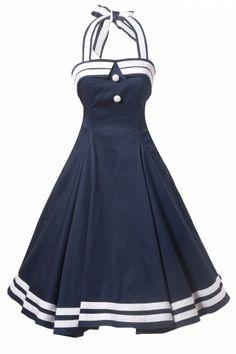 1950's Sindy Doll Sailor navy swing dress