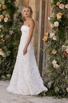 Spring 2021 Bridal Shop - Wedding Dresses For Budget Brides Sexy Maxi Dress, White Maxi Dresses, White Dress, Budget Bride, Wedding Dress Necklines, Affordable Wedding Dresses, A Line Gown, Wedding Dress Shopping, One Shoulder Wedding Dress
