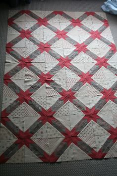 England Street Quilts: WIP - Ethan's Hunter's Star Quilt