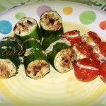 Zucchine e pomodorini ripieni di menta e formaggio... un fresco incontro di sapori