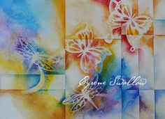 """""""Butterfly Dreams"""" Watercolor abstract painting by Cyrene Swallow-$275.00"""