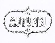 Calligraphy autumn