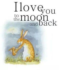 Ik hou van jou tot de maan en terug