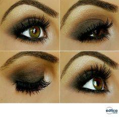 Maquiagem para realçar os olhos na cor mel! #makeup #maquiagem