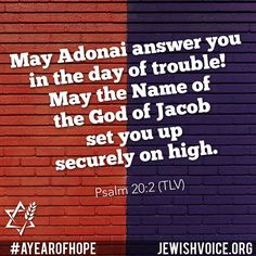 Sharing the Gospel of Yeshua (Jesus) to the Jew first and also to Gentiles. Learn about Messianic Judaism, Rabbi Jonathan Bernis, medical missions and more. Psalm 20, Messianic Judaism, Scripture Of The Day, Telling Stories, Close To My Heart, Meaningful Quotes, Letter Board, Bible, Names