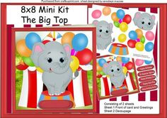 Lovely 8x8 Mini Kit The Big Top  on Craftsuprint - Add To Basket!