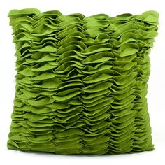 @Overstock - This rug features rich, green color, hand cut wool felt pillows that are skillfully crafted and sewn to create an original one of a kind accent and pop of color to any space.http://www.overstock.com/Home-Garden/Nourison-Green-Felt-Decorative-Pillow/6689404/product.html?CID=214117 $41.99