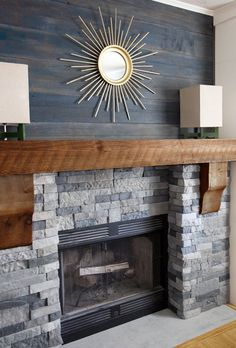 25 DIY Reclaimed Wood and Pallet Fireplace Surrounds