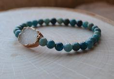 Druzy Layering Bracelet Natural Stone by GratefulHeartBazaar