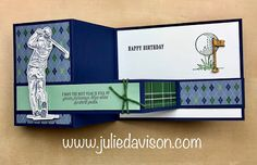 Z Cards, Golf Cards, Golf Birthday Cards, Handmade Birthday Cards, Masculine Birthday Cards, Masculine Cards, Fancy Fold Cards, Folded Cards, Retirement Cards