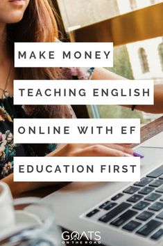 Make Money Teaching Online With EF Education First – Finance tips for small business Easy Online Jobs, Teaching English Online, Online Classroom, Work Abroad, Travel Agency, Finance Tips, Money Tips, Extra Money, Lesson Plans
