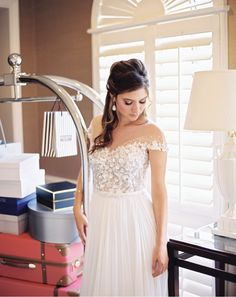 The Suite Life //  Gown from The Bridal Salon at Neiman Marcus. Hair + makeup by Randee Strand Artistry. Venue: Rosewood Mansion on Turtle Creek. Planner & stylist: Tami Winn Events. Jewelry from Shapiro Diamonds. Photo taken by Allen Tsai Photography. #bridesofnorthtx #bridal #bride #gown #wedding