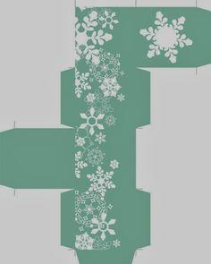 Cajas Navideñas, etiquetas y toppers, diseños con Copos de Nieve para Imprimir Gratis. | Ideas y material gratis para fiestas y celebraciones Oh My Fiesta!