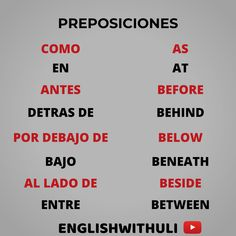 Spanish Phrases, English Vocabulary Words, English Phrases, Learn English Words, How To Speak Spanish, English Grammar, Spanish English, English Tips, English Lessons