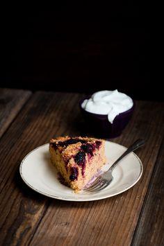 Desserts for Breakfast: Salt-kissed Buttermilk Olallieberry Cake