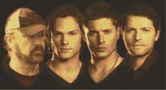 Supernatural Cast Cross Stitch Pattern Sam/Dean/Bobby/Castiel found on Etsy Cross Stitch Floss, Cross Stitch Art, Beaded Cross Stitch, Cross Stitch Designs, Cross Stitching, Cross Stitch Embroidery, Cross Stitch Patterns, Supernatural Wallpaper, Supernatural Cast