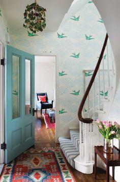 bright entryway