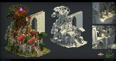Elvenar _ Inno Games _ Elf , Cynthia Vandermouten on ArtStation at https://www.artstation.com/artwork/zkX24