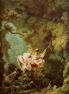 Rococo - Jean Honoré Fragonard - Les hasards heureux de l'escarpolette