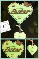 Special Sister 70th Birthday Scalloped Heart Plaque