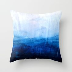 All good things are wild and free - Ocean Ombre Painting Throw Pillow by Prelude Posters - $20.00