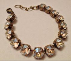 Swarovski crystal tennis bracelet. by AleighsGems on Etsy