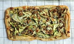 ruby courgette and stilton tart