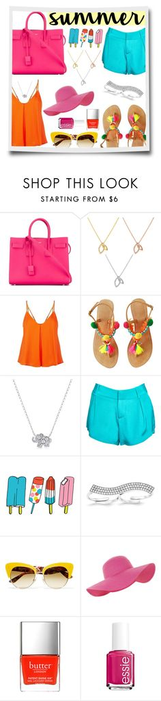 """""""Celebrate summer in bright colors!"""" by mlgjewelry on Polyvore featuring Yves Saint Laurent, Wish by Amanda Rose, Rebecca Minkoff, Amanda Rose Collection, Alice + Olivia, Tattly, Dolce&Gabbana, Accessorize, Butter London and Essie"""
