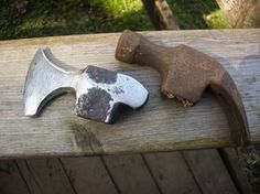 HammerAxe 2 - Crossed Heart Forge - Island Blacksmith: Hand forged reclaimed axes made from antique tools Burdette this idea m -
