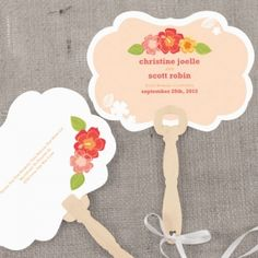 Tropical Bliss Hand Fans (4 Colors)Personalizados $1.19