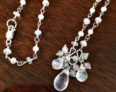HOLIDAY SALE Wedding Earrings Clear Crystal by DoolittleJewelry