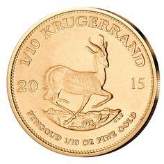 Goldmünze Krügerrand 1/10 oz 2015 Südafrika - 1/10 Unze Gold Krugerrand