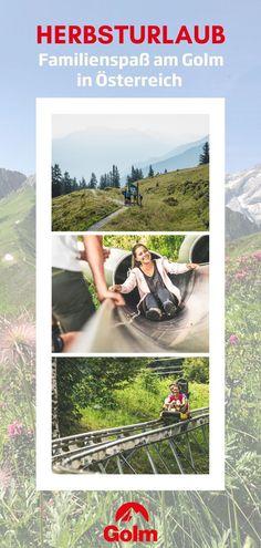 Die Herbstferien stehen an und somit auch der nächste Urlaub? Verbringt eine wunderschöne gemeinsame Zeit in den Bergen von Österreich und habt einen unvergesslichen Herbsturlaub. Geht gemeinsam auf eine Wandertour, verbringt den Tag im Waldrutschenpark oder erkundet die Natur auf Golmis Forschungspfad. Entdecke jetzt deinen perfekten Tagesausflug am Golm! #golmat Bergen, Polaroid Film, Holiday Destinations, Destinations, Family Vacations, Recovery, Mountains