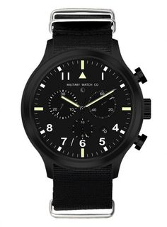 Crick & Watson - MWC MILTEC III PVD Stainless Steel Military Chronograph
