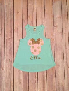 Minnie Mouse Girls Disney Tank Top by LeLeandTee on Etsy