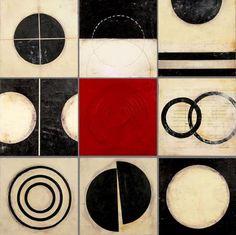 Graceann Warn, 'Nine' - encaustic & mixed media