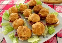 La buona cucina di katty: Sandwich di bignè con ripieno di formaggio e prosciutto