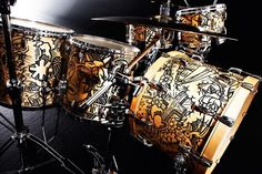 Chad Smith´s previous drumset designed by Henk Schiffmacher