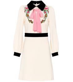 GUCCI Embellished crêpe dress